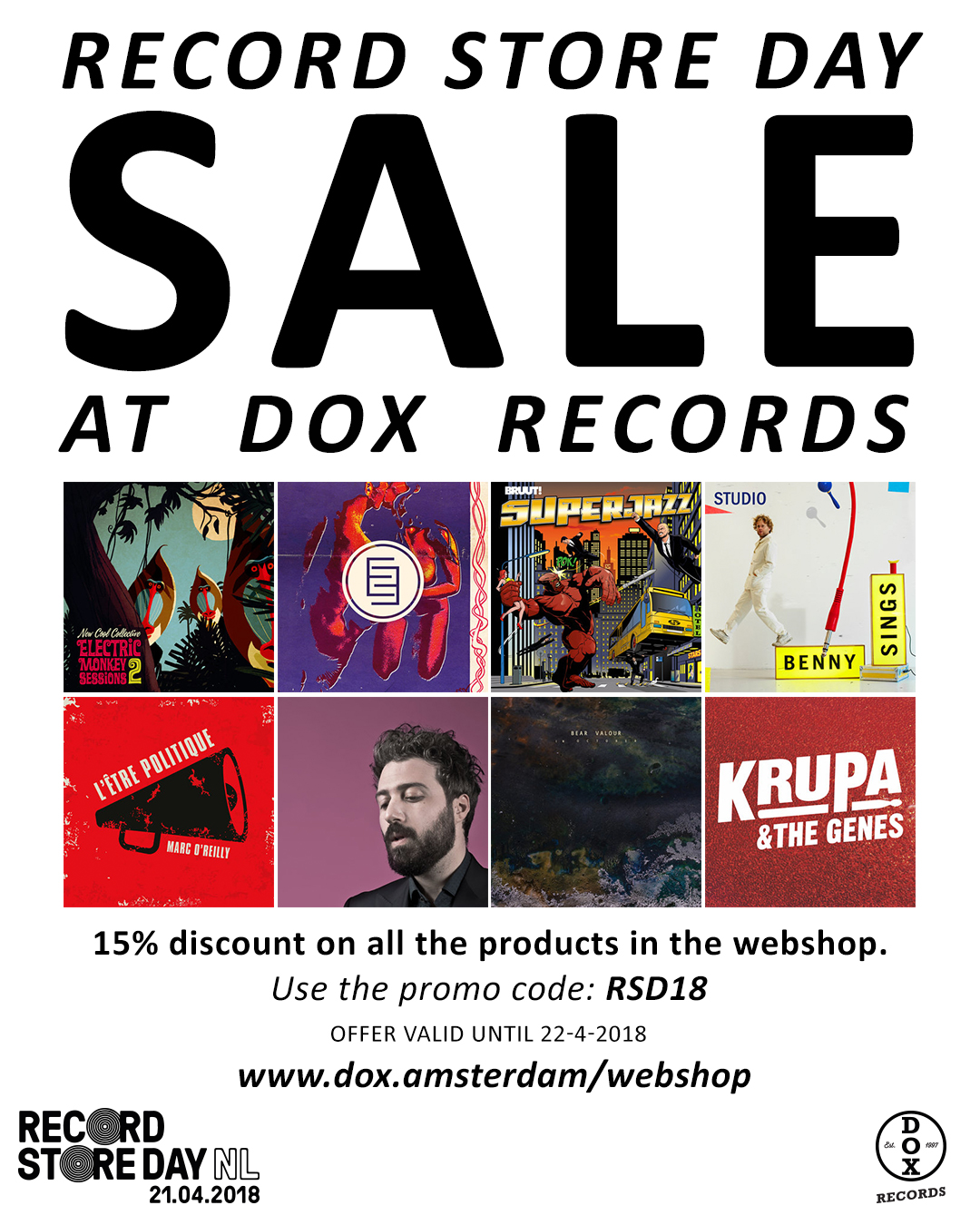 4e228bc11d6 Dox Records – Record label » Record store Day sale at Dox!